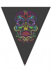 Kleurrijke skelet Dia de los Muertos slinger