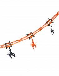 Zwarte en oranje papieren heksen slinger