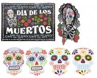 Set van 7 Dia de los Muertos decoraties