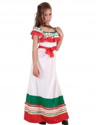 Lang Mexicaans kostuum voor meisjes
