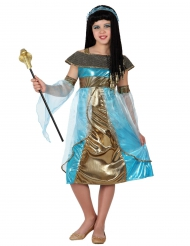 Blauw Egyptisch kostuum voor meisjes