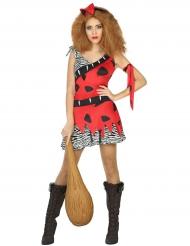 Prehistorisch holbewoner kostuum voor dames