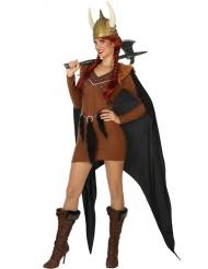 Viking kostuum met cape voor vrouwen