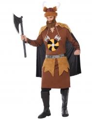 Bruin viking kostuum met cape voor mannen