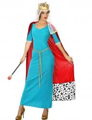 Blauwe koningin kostuum voor vrouwen