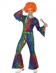 Fluo disco luipaard kostuum voor heren