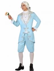 Blauw barok prins kostuum voor mannen