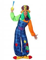 Kleurrijke clown kostuum voor mannen