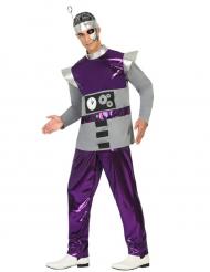 Paarse robot kostuum voor mannen