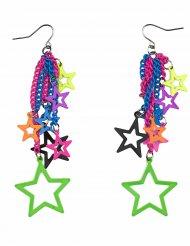 Veelkleurige sterren oorbellen voor volwassenen