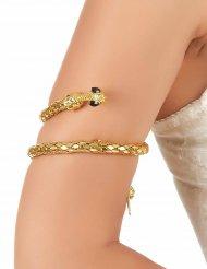 Goudkleurige slang armband voor volwassenen