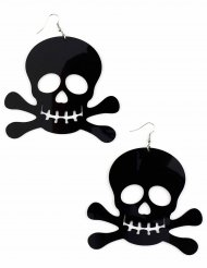 Enorme zwarte piraten oorbellen voor volwassenen