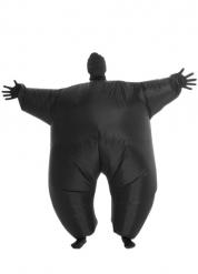 Zwart lichtgevend en opblaasbaar Morphsuits™ pak