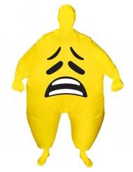Opblaasbaar Morphsuits™ triest gezicht kostuum voor volwassenen