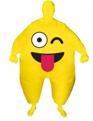 Knipoog smiley opblaasbaar Morphsuits™ kostuum voor volwassenen