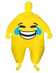 Opblaasbaar lachend gezicht Morphsuits™ kostuum voor volwassenen