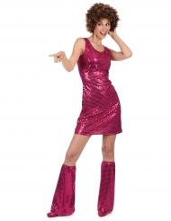 Fuchsia roze disco jurk voor dames