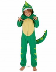 Groen en geel dino kostuum voor kinderen