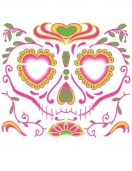 Dia de los Muertos nep gezicht tatoeage voor vrouwen