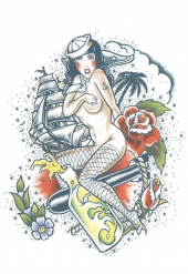 Matrozen nep tatoeage voor volwassenen