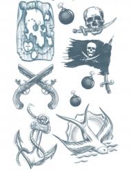 Piraten nep tatoeages voor volwassenen