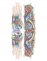 Dia de los Muertos nep tatoeages voor volwassenen