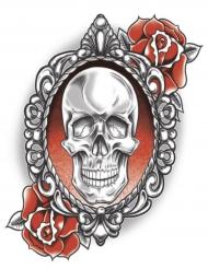 Skeletten en rozen nep tatoeages voor volwassenen