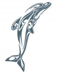Dolfijn neptatoeages voor volwassenen