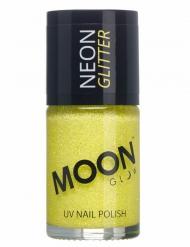 Gele Moonglow© nagellak met fosforescerende glitters
