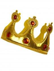 Soepele goudkleurige kroon voor volwassenen