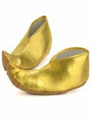Goudkleurige sultan overschoenen voor volwassenen
