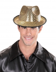 Goudkleurige hoed met ruiten voor volwassenen