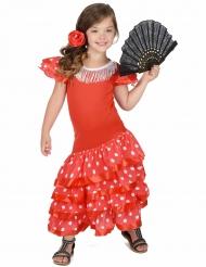 Rode flamenco danseres kostuum voor meisjes