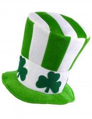 Groen-wit hoge hoed St Patrick