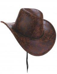 Cowboy hoed nep leer voor volwassenen