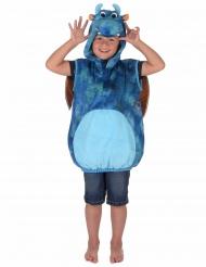 Blauw en oranje drakenkostuum voor kinderen