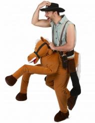 Man op de rug van een paard outfit voor volwassenen