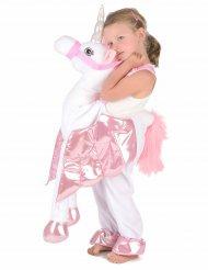 Op de rug van een eenhoorn kostuum voor kinderen
