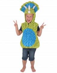 Groen en blauw dinosaurus kostuum voor kinderen