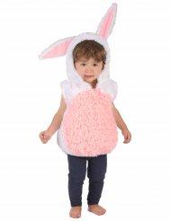 Wit en roze konijn kostuum voor kinderen