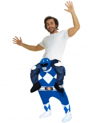 Power Rangers™ blauw Morphsuits™ kostuum