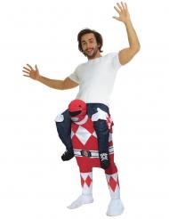 Rode Power Rangers™ Morphsuits™ carry me kostuum voor volwassenen