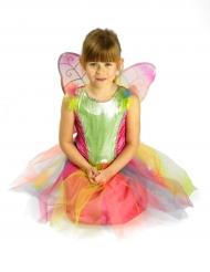 Veelkleurige vlinder kostuum voor meisjes