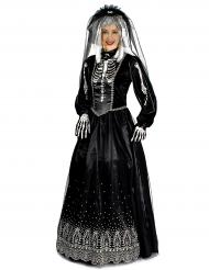 Zwarte gothic bruid kostuum voor vrouwen
