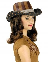 Luxe Amerikaanse Far West hoed voor volwassenen