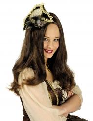 Luxe mini piraten hoed voor vrouwen