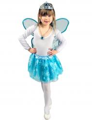 IJsblauwe tutu en vleugels voor meisjes