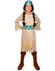 Yakari™ regenboog kostuum voor meisjes