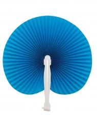 Blauwe vouwbare waaier