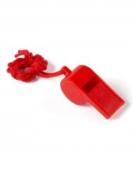 Rood fluitje met touwtje